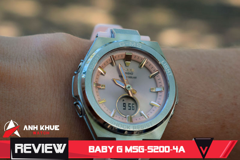 Review đồng hồ Casio Baby-G MSG-S200-4A